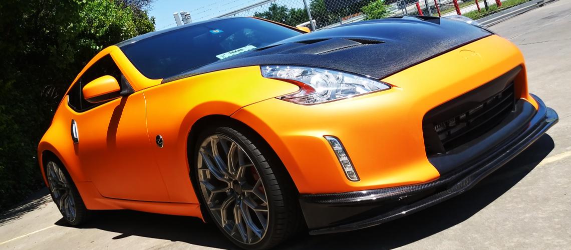 color change matte orange with carbon fiber MMG