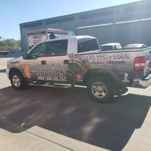 Spartan Heat and Air Truck Partial Wrap
