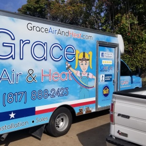 Grace Air & Heat Box Truck Wrap