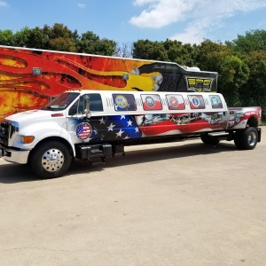 Partial Wrap on Extended Truck Limo