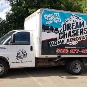 Dream Chasers Home Renovations Box Truck Wrap