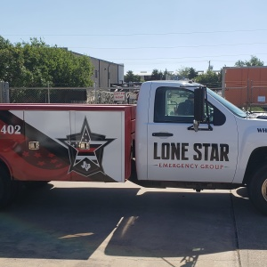 Lonestar Emergency Services Truck Wrap