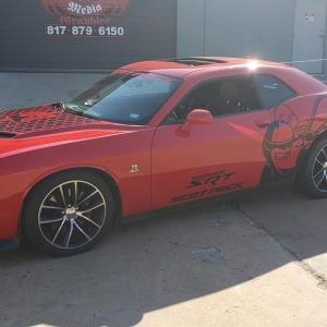 Scat Pack Graphics on Dodge Challenger