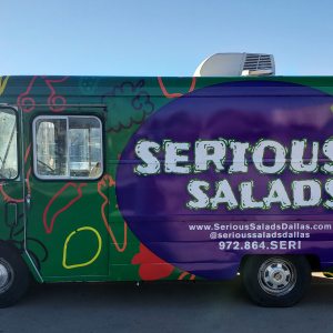 Serious Salads Food Truck Wrap