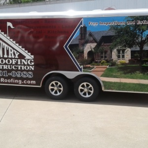 Country Club Roofing Trailer Wrap