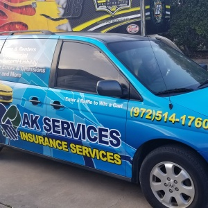AK Insurance Services Van Wrap