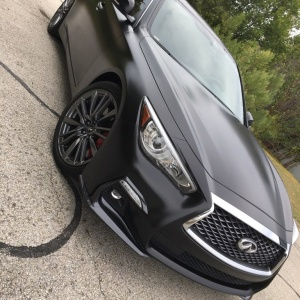 Avery Dennison Satin Black on Infiniti Q50