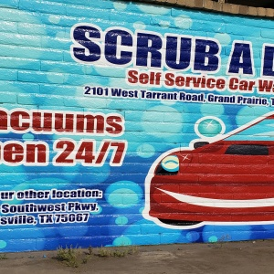 Scrub a Dub Car Wash Brick Wall