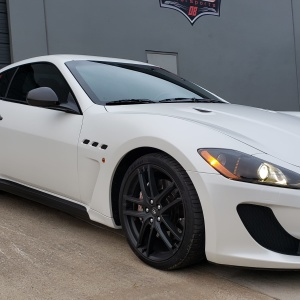 Satin Pearl White  Color Change on Maserati