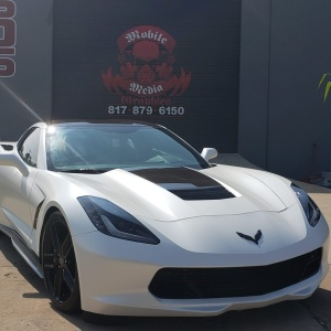 Satin Pearl White Corvette
