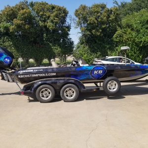 KB Pools Boat Wrap