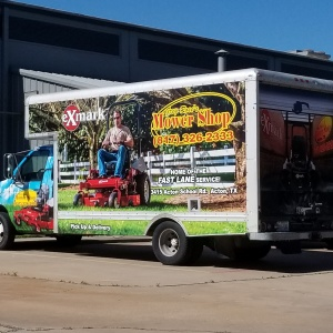 Greg Rose's Mower Shop Box Truck Wrap