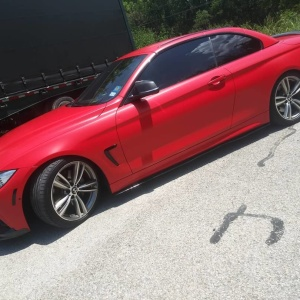 3M Satin Smoldering Red Color Change